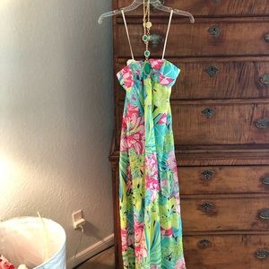 Lilly Pulitzer Claudie Strapless Silk Gown